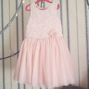 Catherine Malandrino Light Pink Tulle Sequin Dress